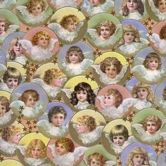 victorian wrapping paper for decoupage | Home » Pastel Victorian Angels Specialty Paper ~ Germany
