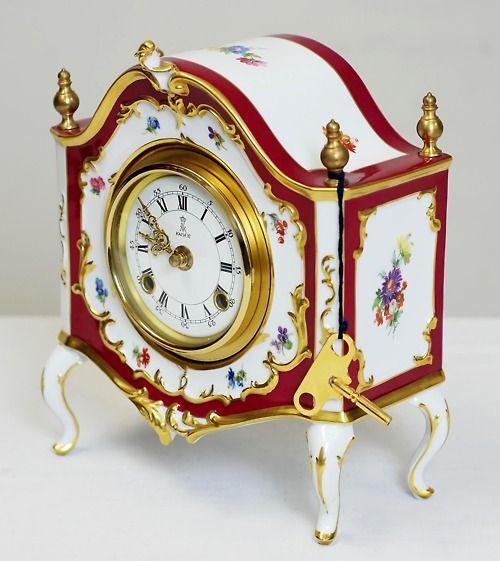 Porcelain German Mantle Clock