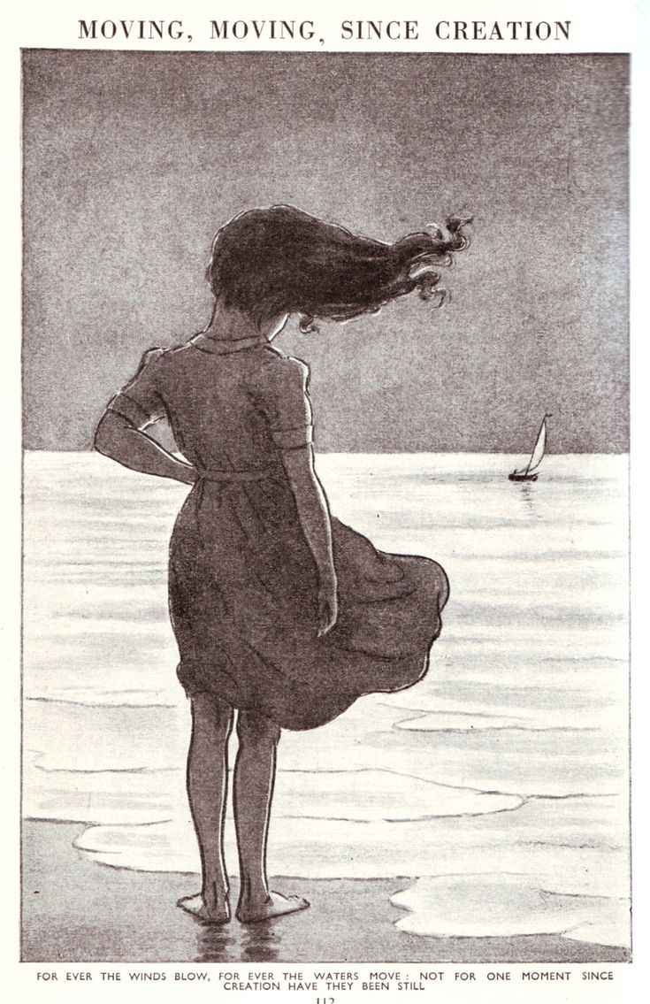 For ever the winds blow, for ever the waters move. Not for one moment since creation have they been still.  Illustration from The Children's Encyclopædia, 1908
