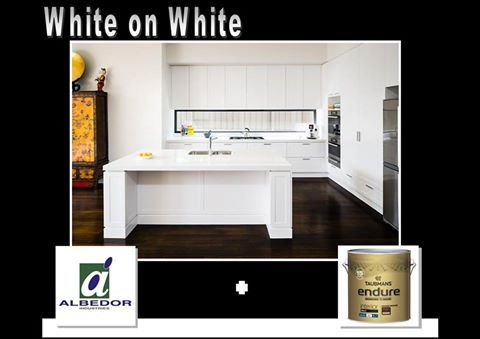 """White on White interior. When you select Albedor's Satin White or Satin Classic White finishes, you can now get the same colour paint for interior walls and ceilings. Simply ask for Taubmans Endure Interior Low Sheen, colour ref """" Albedor Satin White """"  or """" Albedor Satin Classic White """" for your pre-matched colour solution. Albedor Satin White and Satin Classic White are available in both Thermo Formed and Ultra Finish doors. Visit our website for more inspiring design ideas…"""
