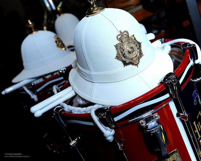 Royal Marines Band Service Helmets and Drums | Flickr - Photo Sharing!