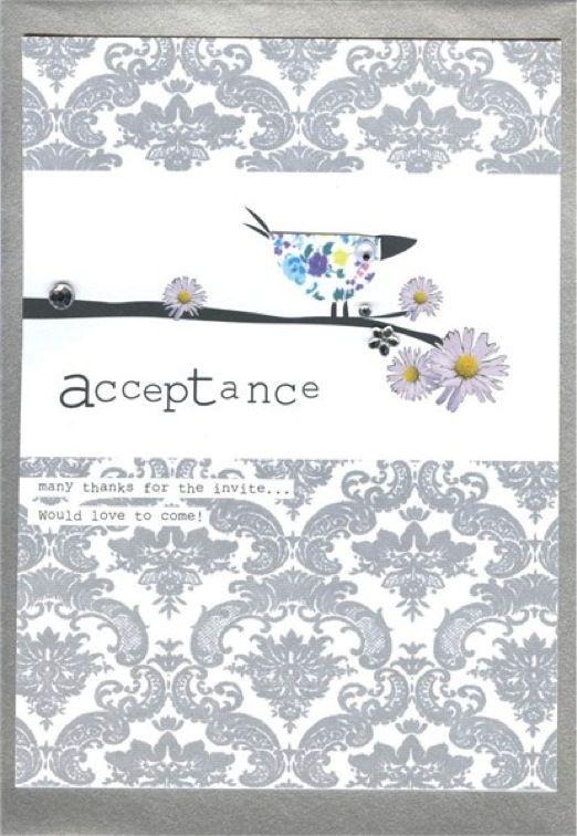 Wedding Acceptance Card