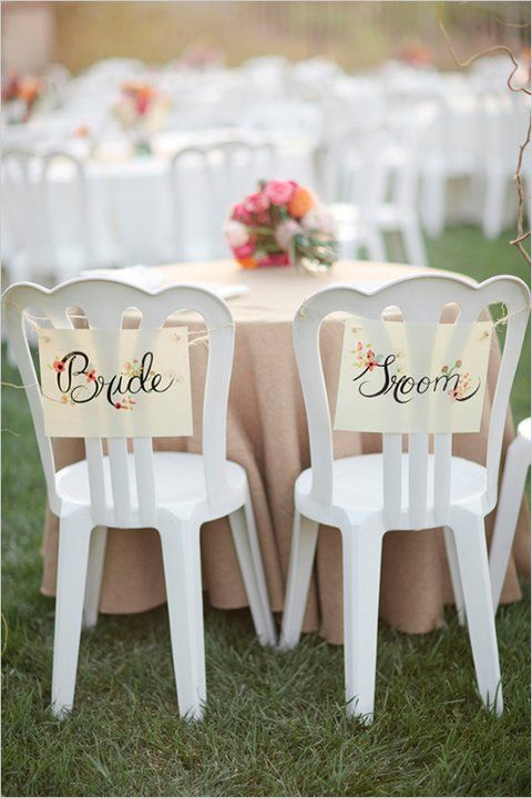 Easy DIY signs to add charm to any  wedding. (Photo by: Michelle March)