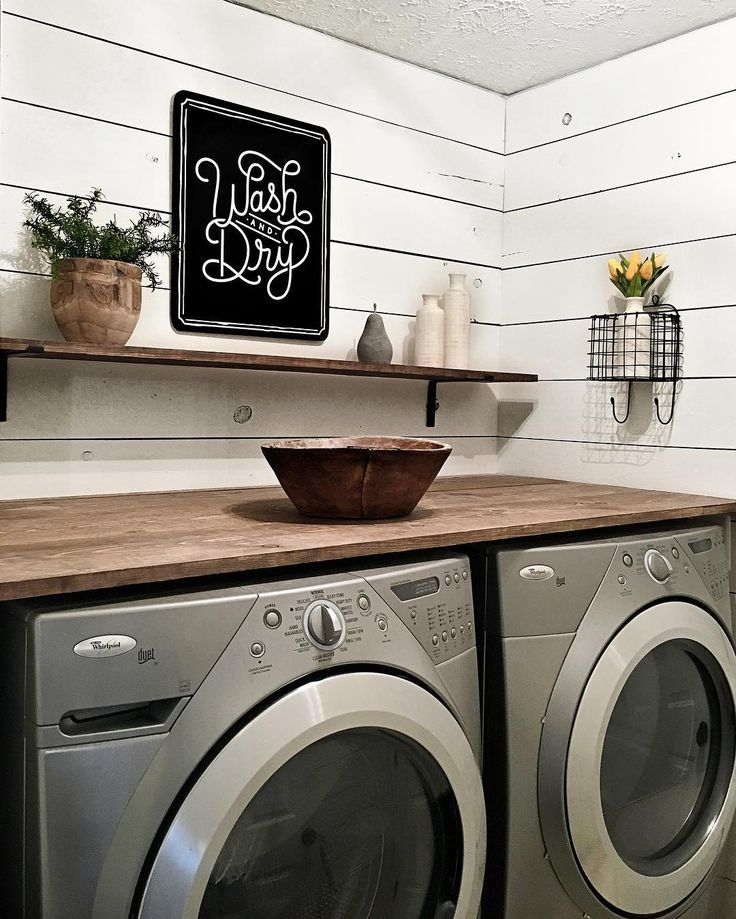 I wish I could say the new laundry room makeover made me love doing laundry more but at least I have a beautiful place to do it in. Enjoy your day friends! #laundry #laundryday #laundryroomdecor #shiplap #woodsandwhites #woodandwhite #woodandwhitewednesday #brightwhitewednesday #myneutralwednesday #farmhouse #farmhousestyle #modernfarmhouse #modernfarmhousestyle #magnoliamarket #simplicity #simplehomestyle #simplefarmhousetouches #home #homesweethome #homedecor #interiordesign