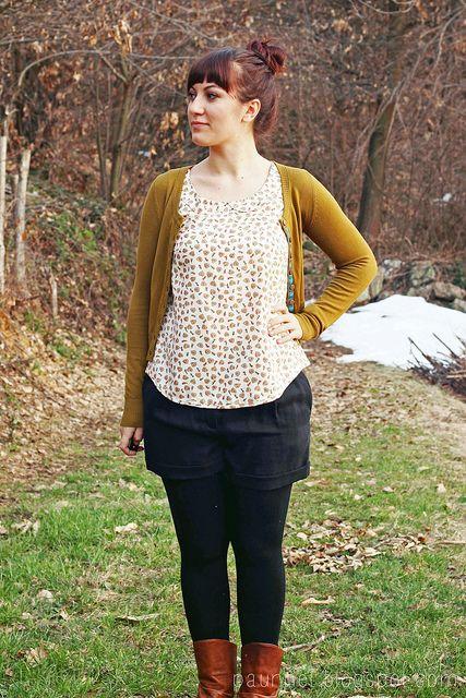 peter pan collar blouse + cardigan