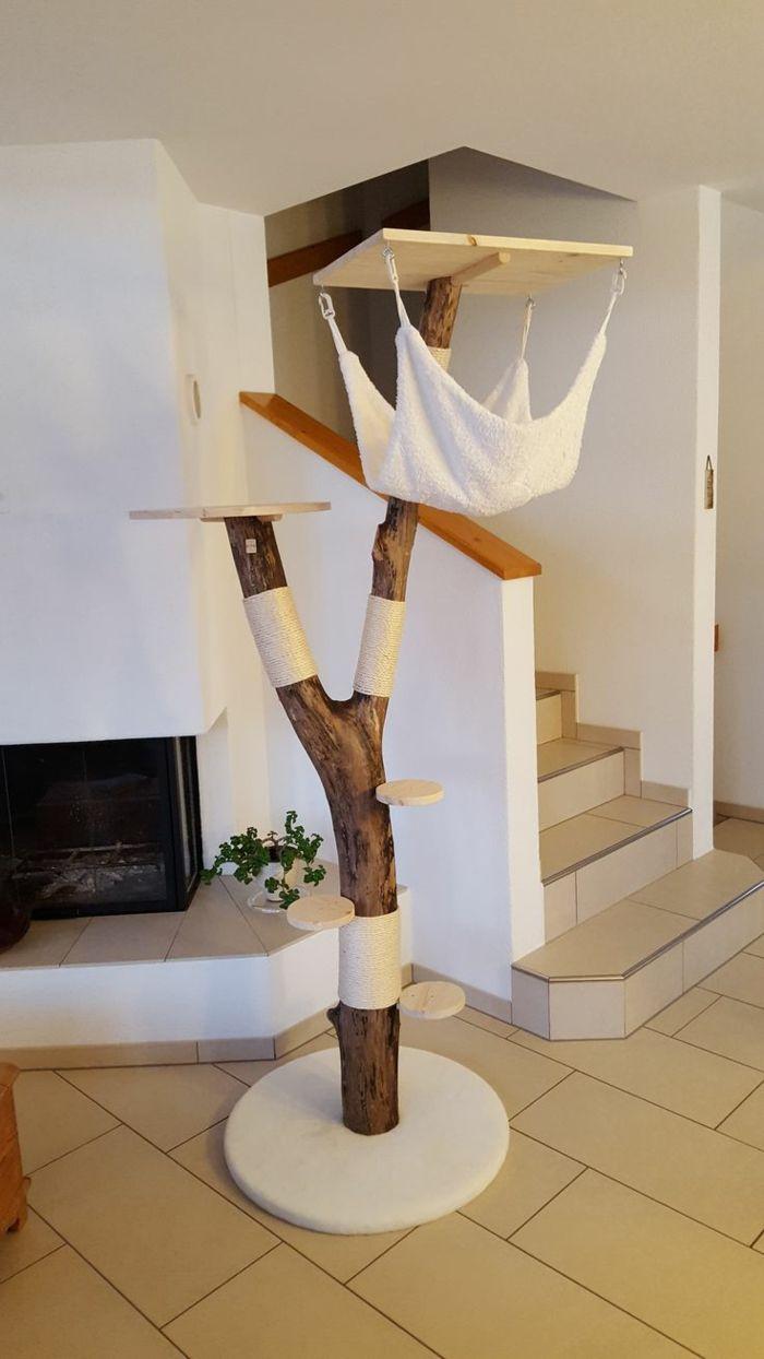die besten 25 kratzbaum naturholz ideen auf pinterest b cherregal massivholz garderobe. Black Bedroom Furniture Sets. Home Design Ideas