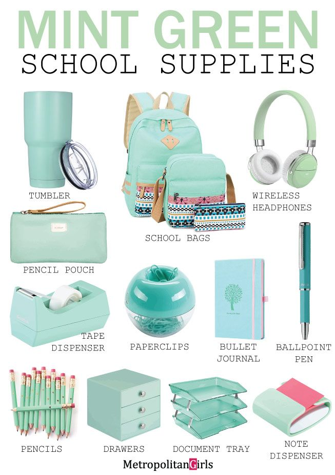 6952bbc09ef5 15 Cute Mint Green School Supplies (You Will Fall in Love With ...