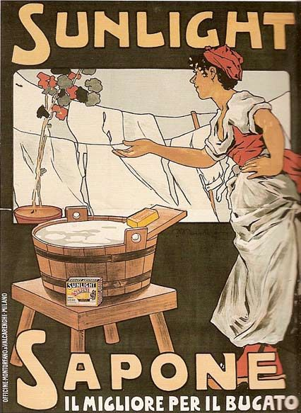 Vintage Italian Posters ~ #illustrator #Italian #vintage #posters ~ Soap ad