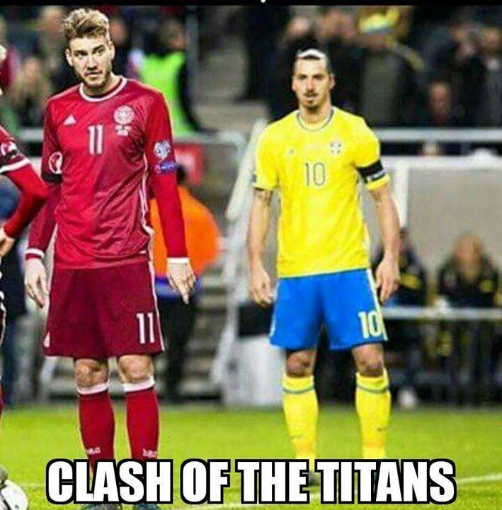 Ketika Zlatan Ibrahimovic bertemu #LordBendtner.