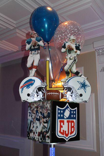 Superbowl Helmet Centerpiece Superbowl Football Themed