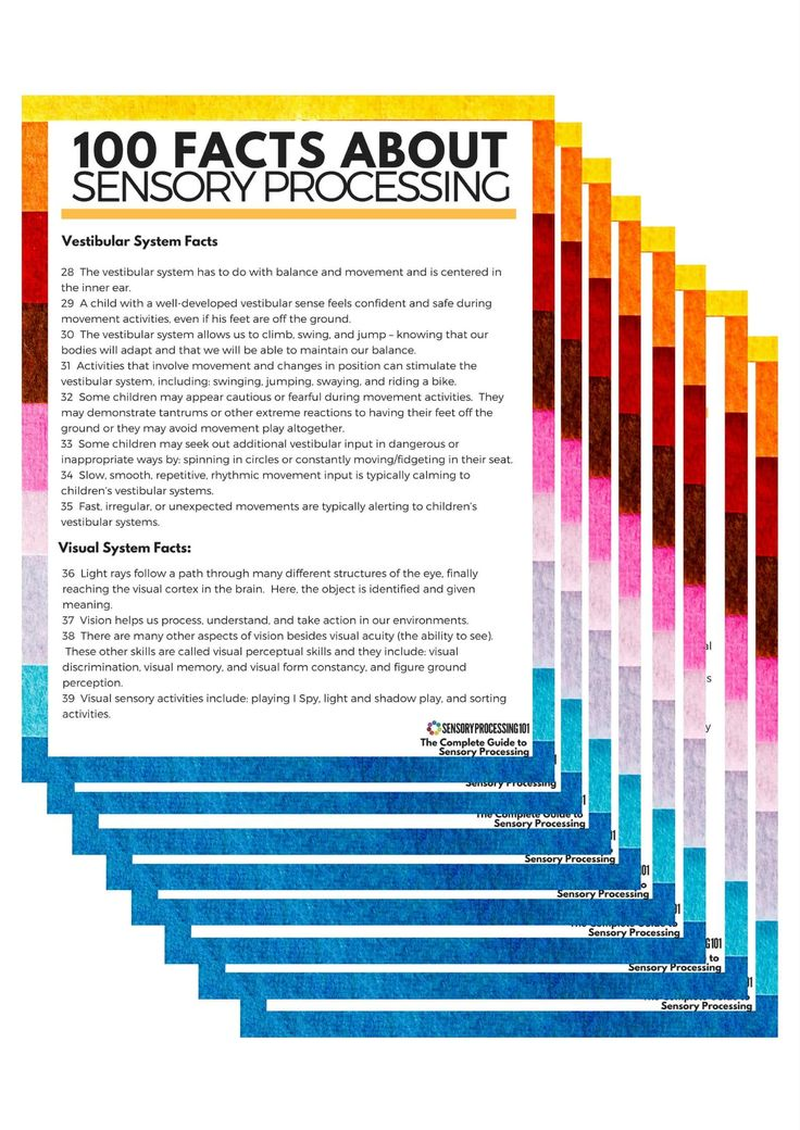 Finally, a Complete List of Facts About Sensory Processing (All in One Place) - Sensory Processing 101