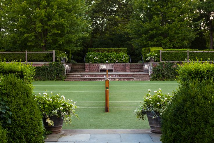 Tennis Court - Residence On Georgica Pond - Projects - Sawyer   Berson