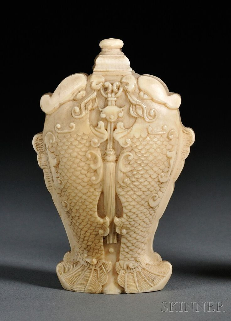 986 best antique ivory bone carving images on pinterest bone ivory snuff bottle china century finely carved as double fish with a pendant with stopper mozeypictures Images