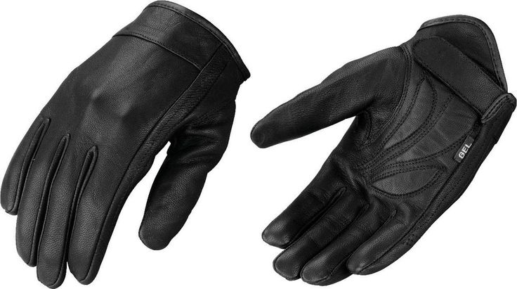 Milwaukee Leather Motorcycle Riding Glove w Stretch Gel Palm Shorter Wrist | eBay