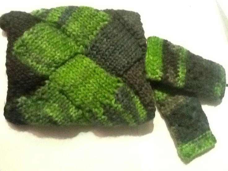 Coll i mitons - New Nepal de Katia  Fet de mitja (knitting)