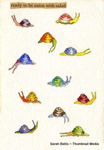 Snails Sarah Bellis Designs www.thumbnailmedia.com