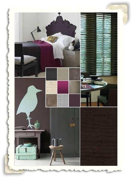 Interieur idee met de kleuren paars en taupe for Lichte kleuren interieur