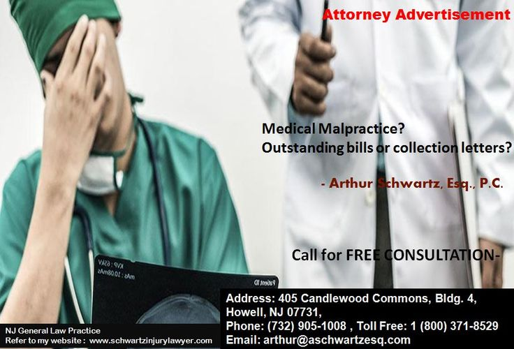 Medical Malpractice? Outstanding bills or collection