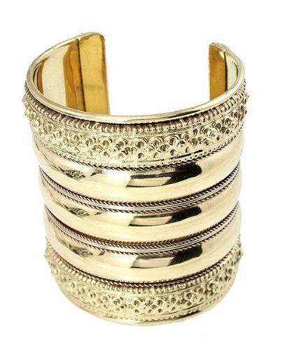 Designer Gold Tone Vintage-style Cuff Bracelet Black Finish Cuff Bracelets. $24.50. Designer Gold Tone Vintage-style Cuff Bracelet Black Finish. 3.1 Inches wide. Save 73% Off!