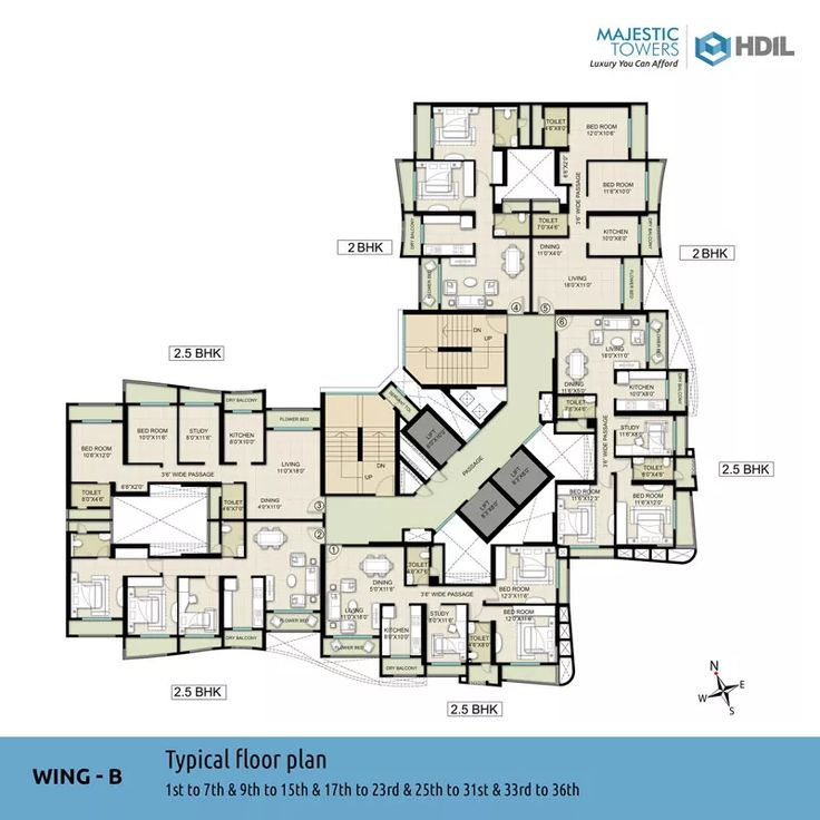 Wing-B Typical Floor Plan