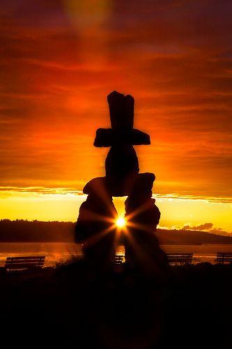 Inukshuk - Vancouver, British Columbia, Canada