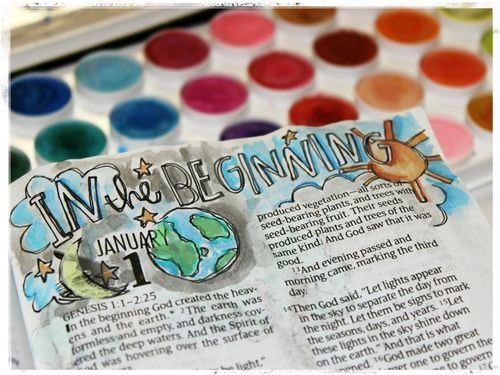 I love the idea of using art as I journal through the Bible...now, if I could just find some artistic talent! :-)