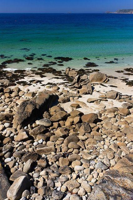 Shoreline at Sennen Cove, Cornwall, England