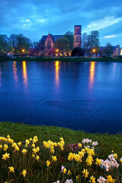 Inverness Cathedral - River Ness, Scotland Highlands