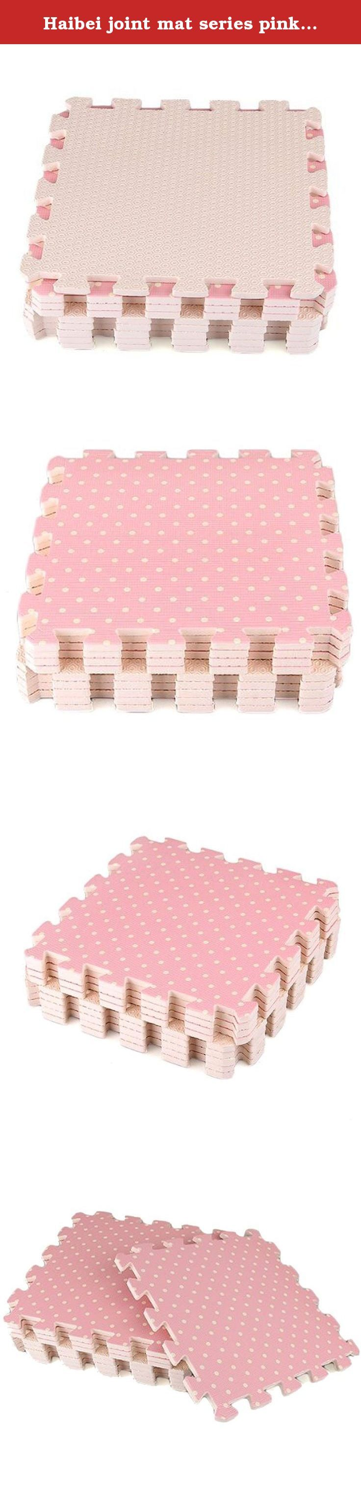 """Haibei joint mat series pink 9 pieces set 30 ~ 30 ƒZƒ""""ƒ` ƒ[ƒgƒ‹ corresponding to your child's play. Size: 30cm * 30cm * 1cm Material: EVA resin Contents: 9 pieces Soundproof effect and shock absorbing effect because it uses a soft material is preeminent. It offers a play place fun to children. > More."""
