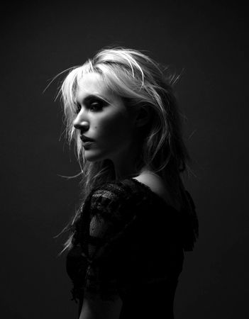 Black and White Photography Portrait of Kate Winslet by Jason Bell