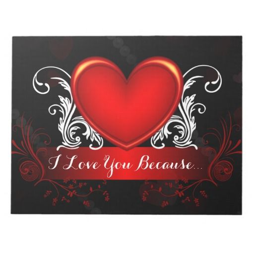 Red Swirly Heart Valentines Day Marriage Helper Note Pad - This romantic Valentines day note pad has a red shiny heart with swirly white vines, pearls and fading hearts in the background. You can use this personal and thoughtful gift all year around to leave sweet and heart felt notes for your husband, wife, boyfriend or girlfriend, and spice up your love life as a result! These pages would also make a wonderful keepsake in years to come.