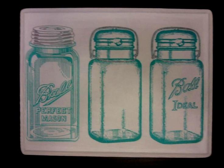 Mason Jar Wall Decor Pinterest : Mason jar wall art decoupage my crafts diy projects
