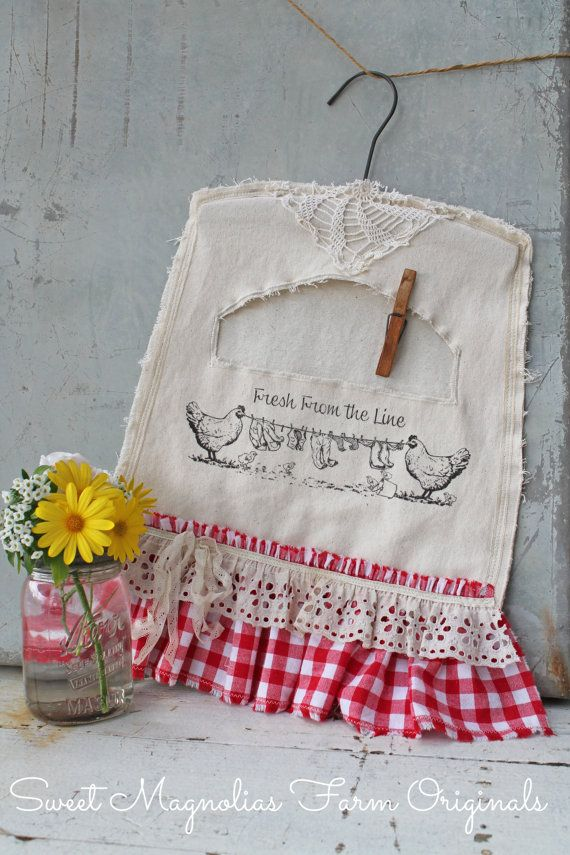 Clothespin Bag Farm Style Fresh From the by SweetMagnoliasFarm, $32.50 Sweet Magnolias Farm Design ©
