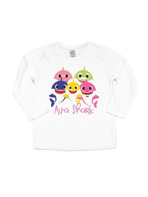 b7aefd13d baby shark birthday shirt | personalized cute shark shirt for girls ...