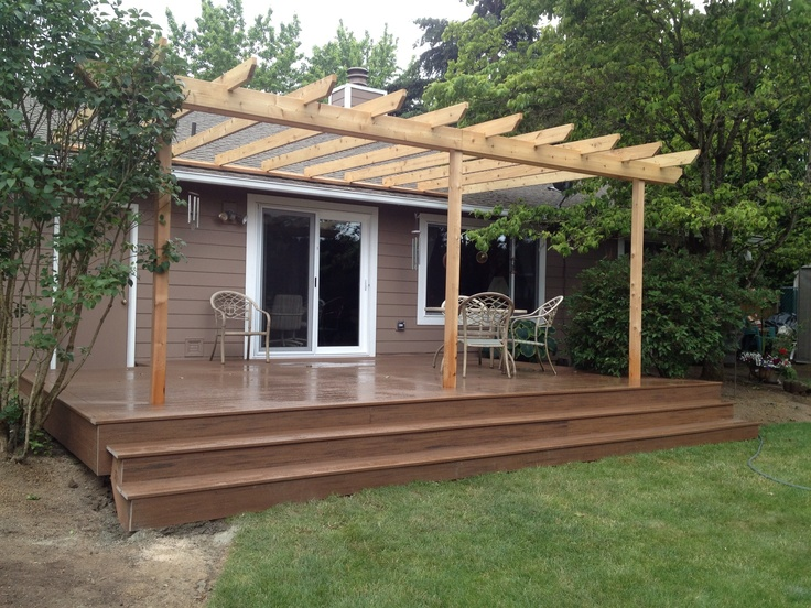 Deck and trellis by buildstong construction llc in for Deck trellis