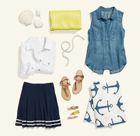 Ahoy! Keep it ocean-appropriate with nautical vibes & preppy pops of color.