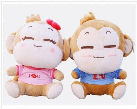 Дешевое Пара из небольшой милый плюшевые игрушки счастливый любовник игрушки йо йо и cici подарок кукла около 18 см, Купить Качество Набивные плюшевые игрушки непосредственно из китайских фирмах-поставщиках:        Размер около 18 см.                Они пара обезьяна: мальчик YoYo и девушка cici.                Если вы х