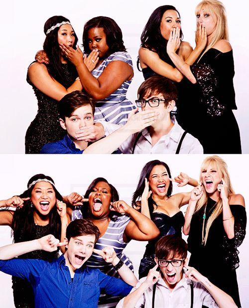 Tina, Mercedes, Santanna, Brittany, Kurt & artie. Love these guys!