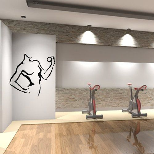 Gym Wall Design: 10 Best FITNESS DECOR Images On Pinterest
