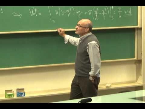 Cursos Unicamp: Cálculo 1 / aula 48 - Volumes por Cascas Cilíndricas - parte 1