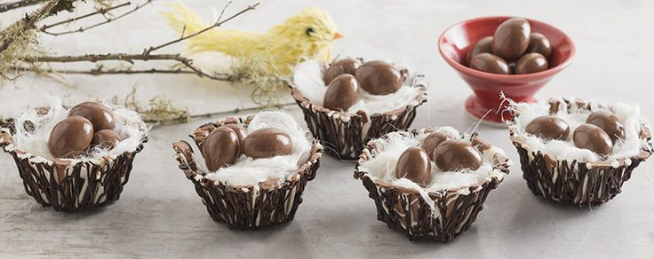 Get the kids making these cute little chocolate baskets.