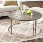 Roman Dark Antique Silver Coffee Table
