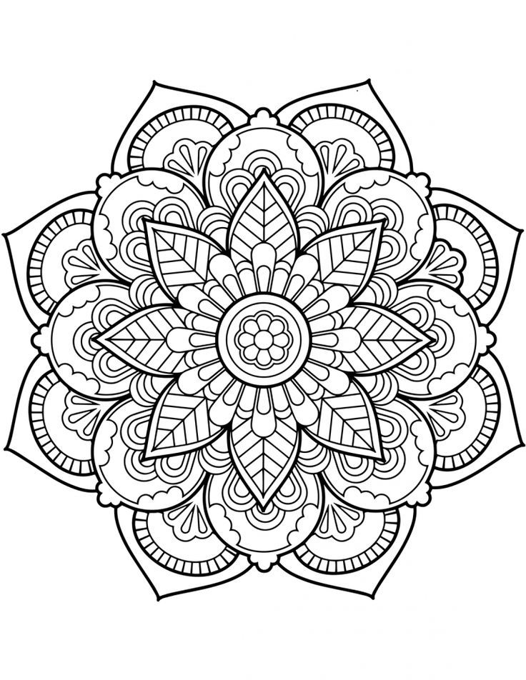 Printable Flower Mandala Coloring Pages Flower Coloring Pages Mandala Coloring Pages Pattern Coloring Pages