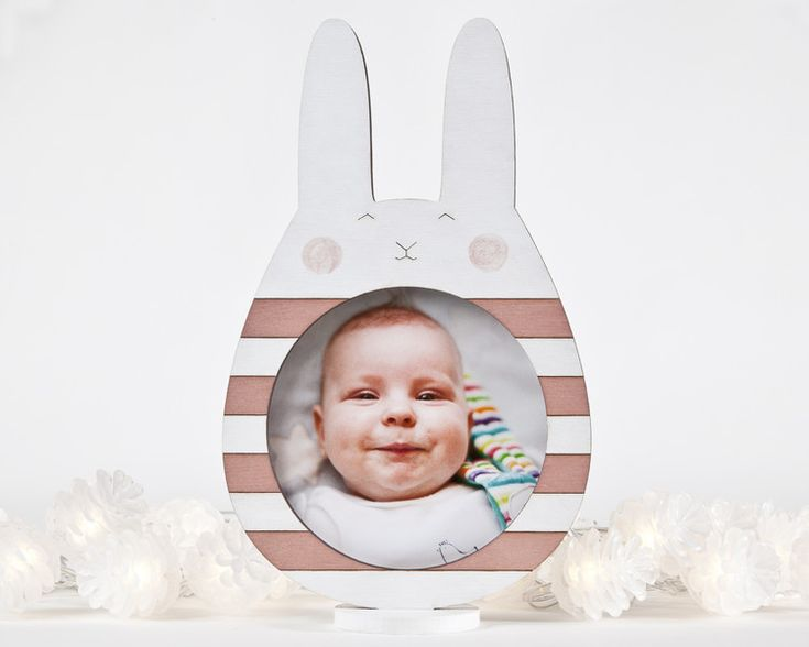 Picture Frames – Bunny picture frame, photo frame, Nursery Decor – a unique product by Julia-Wine on DaWanda