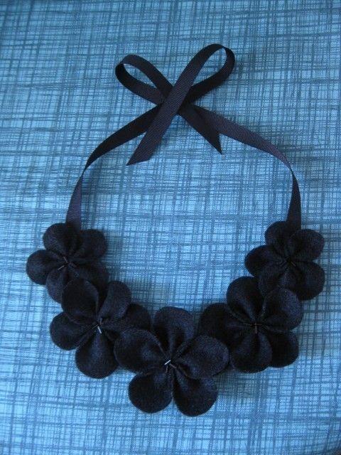 black felt necklace