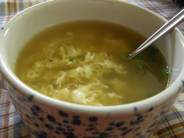 egg drop soup, simple af