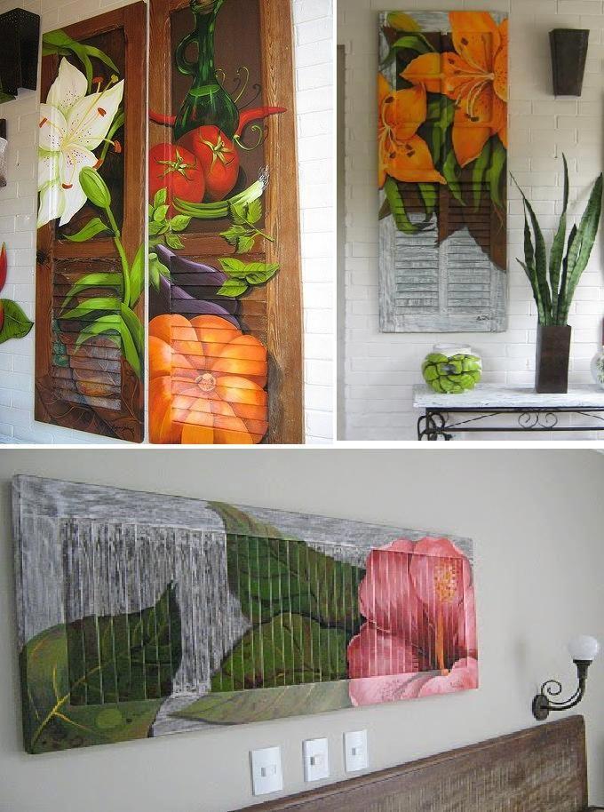 O que me chamou a atenção: a criatividade no reaproveitamento de janelas e portas antigas em obras de arte. Ficou lindo!