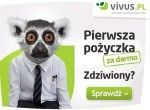 Pożyczki Vivus są udzielane od kwoty 100 zł do maksymalnie 4000 zł na okres od 1 do 30 dni. Oferta firmy to pożyczka udzielana na dowód, przez internet, obsługiwana w 100% online. W Vivus pożyczka jest dostępna bez wychodzenia z domu w prosty i szybki sposób, dzięki czemu możesz odebrać