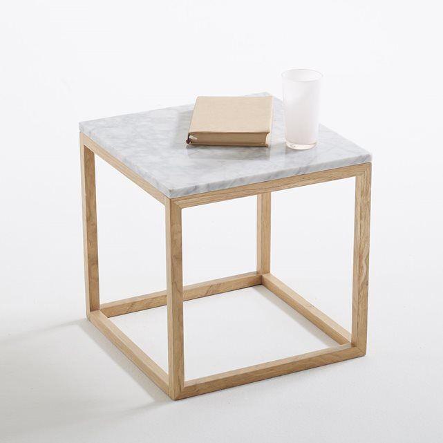 Bout de canapé plateau marbre, Crueso La Redoute Interieurs