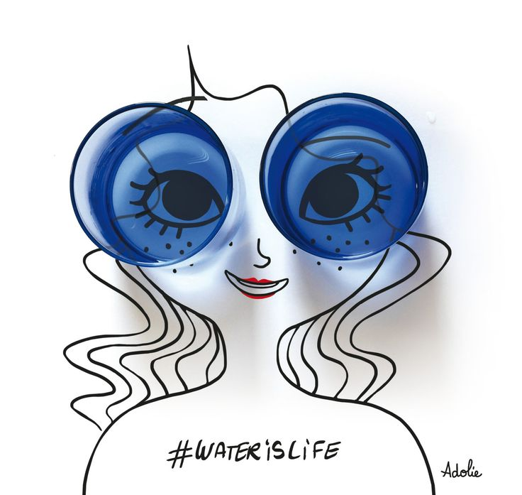Adolie Day #waterislife  illustratrice, agence Marie Bastille // cette image appartient à son auteur et/ou l'agence Marie Bastille + d'infos sur le site //